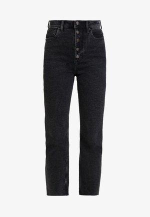 ULTRA HIGH RISE ANKLE - Straight leg jeans - black