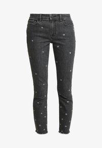Abercrombie & Fitch - Skinny džíny - washed black - 4
