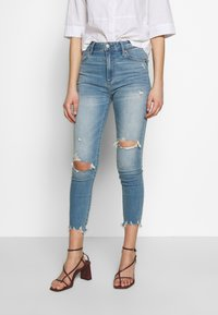 Abercrombie & Fitch - Jeans Skinny Fit - med destroy - 0