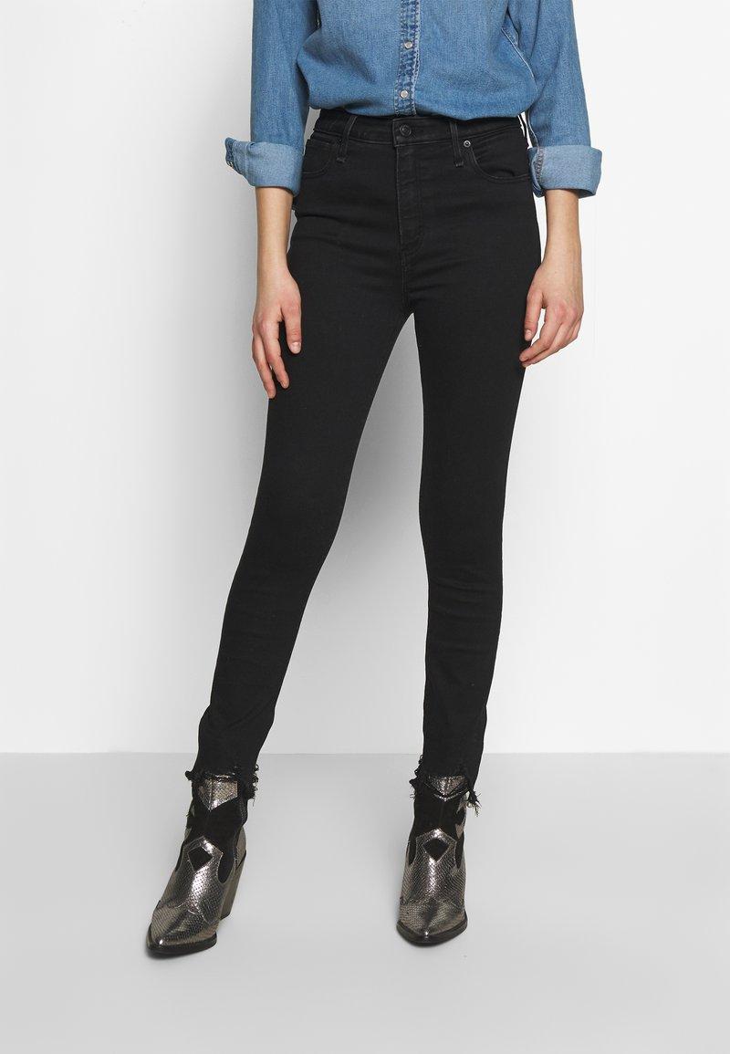 Abercrombie & Fitch - Skinny džíny - black