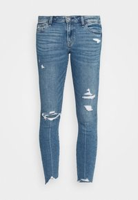 Abercrombie & Fitch - MED DEST MR ANK - Jeans Skinny Fit - medium destroy chewy - 0