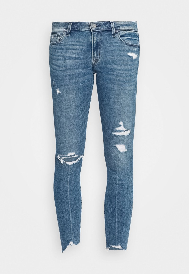 Abercrombie & Fitch - MED DEST MR ANK - Jeans Skinny Fit - medium destroy chewy
