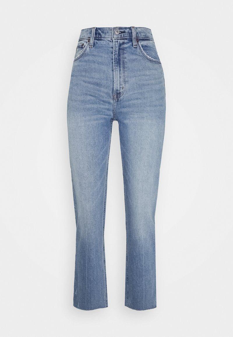 Abercrombie & Fitch - CLEAN CURVE  - Straight leg jeans - light-blue denim