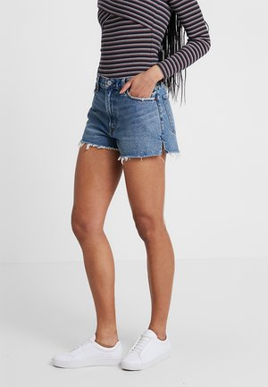 Denim shorts - dark-blue denim