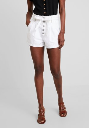 PAPER BAG WAIST - Shorts - white