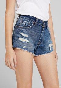 Abercrombie & Fitch - DESTROY - Denim shorts - dark wash - 5