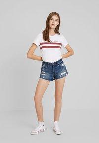Abercrombie & Fitch - DESTROY - Denim shorts - dark wash - 1