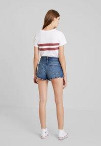 Abercrombie & Fitch - DESTROY - Denim shorts - dark wash - 2