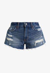 Abercrombie & Fitch - DESTROY - Denim shorts - dark wash - 4