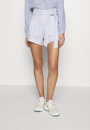 BELTED STRIPE - Shorts - blue