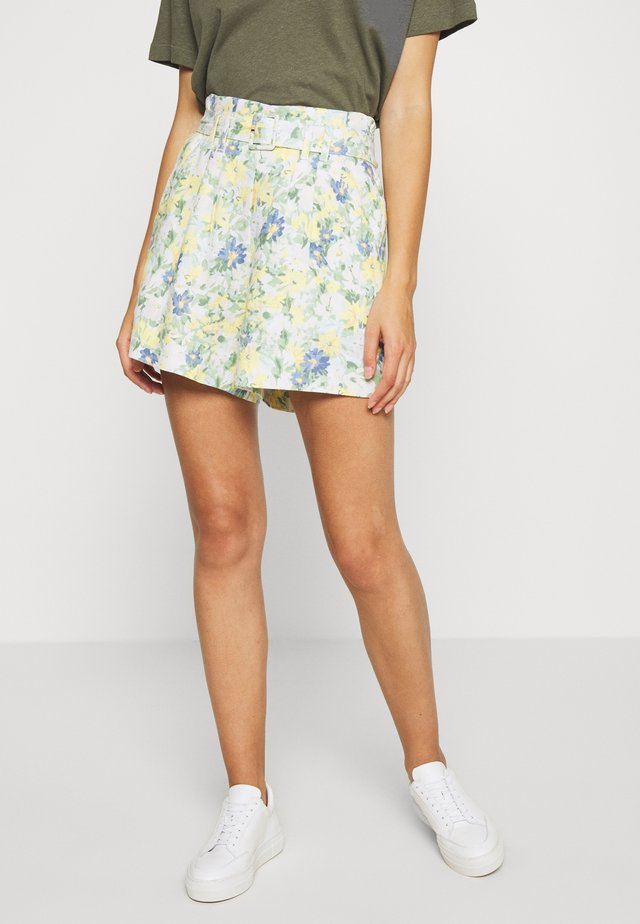CITY FLORAL - Shorts - white