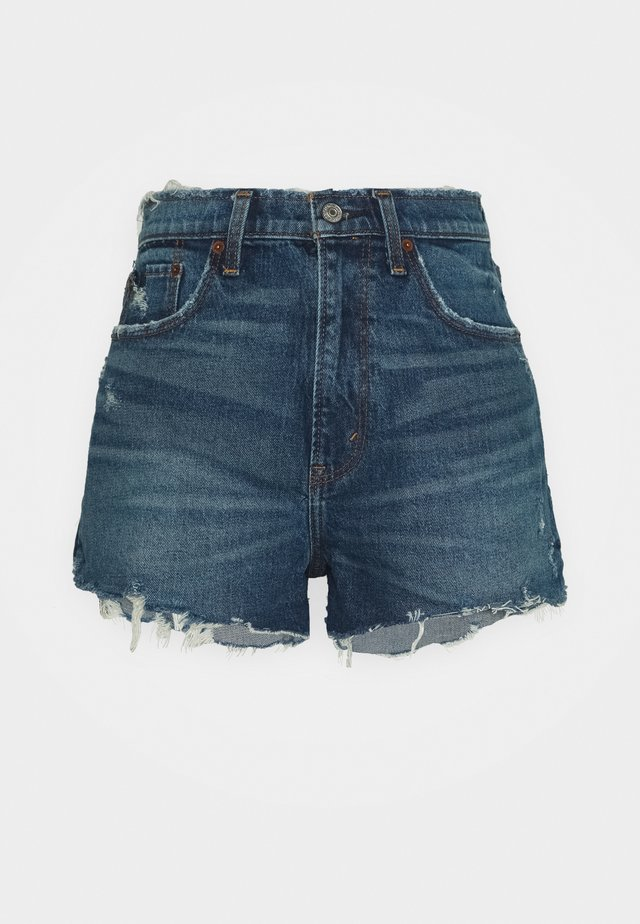 MOM CHEWY - Jeans Shorts - dark-blue denim