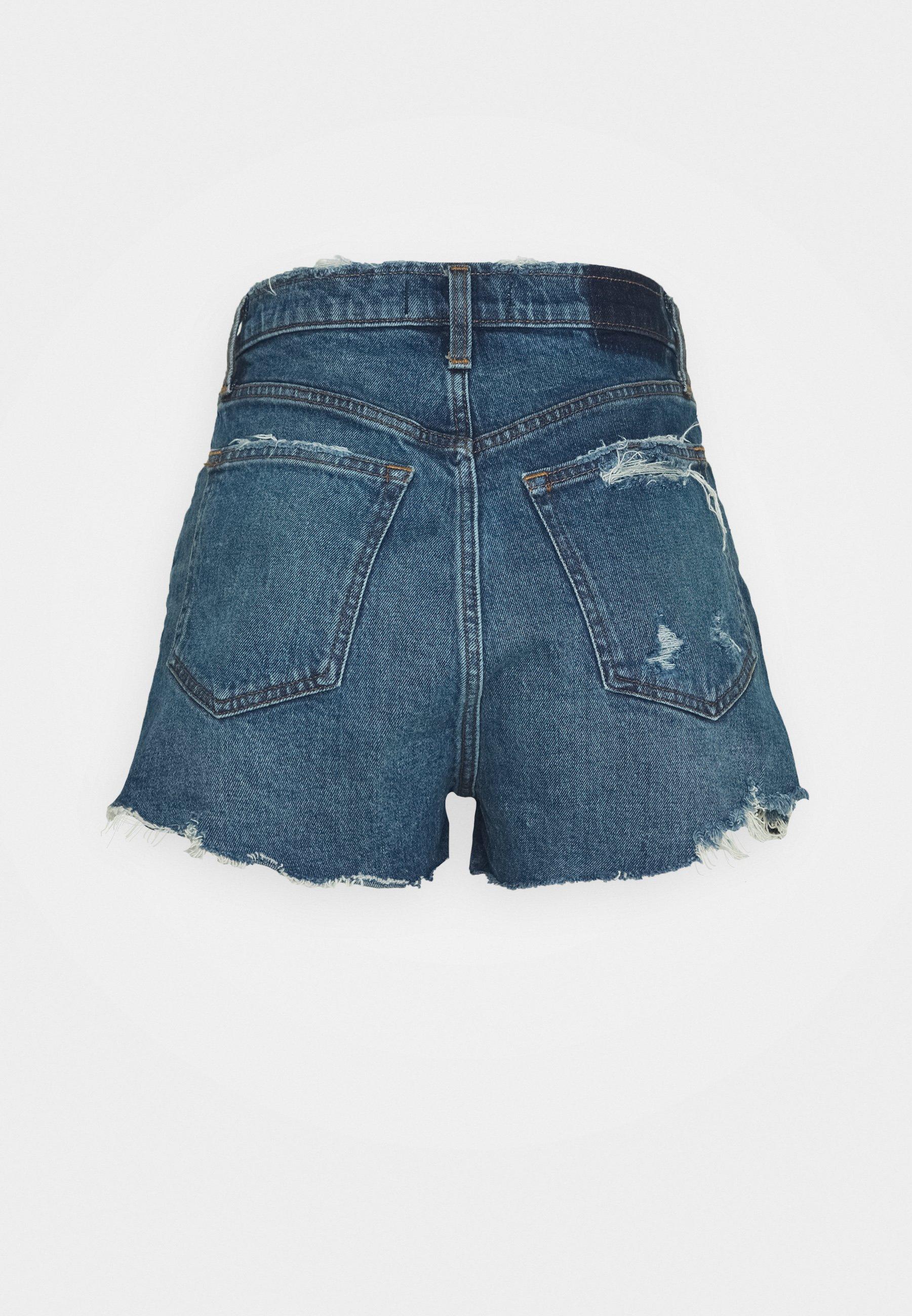 Abercrombie & Fitch Mom Chewy - Jeans Short / Cowboy Shorts Dark-blue Denim