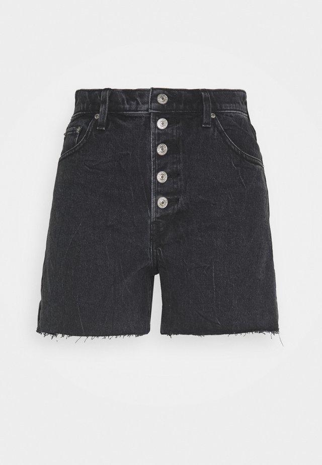 SHANK - Denim shorts - black