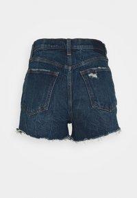 Abercrombie & Fitch - Shorts di jeans - dark blue denim - 1