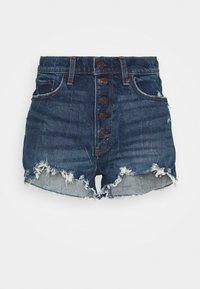 Abercrombie & Fitch - Shorts di jeans - dark blue denim - 0