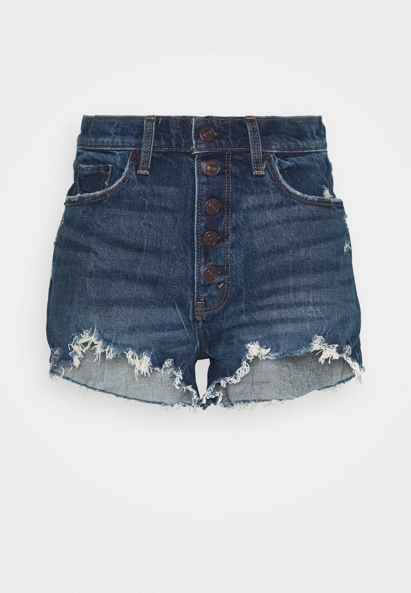 Abercrombie & Fitch - Shorts di jeans - dark blue denim