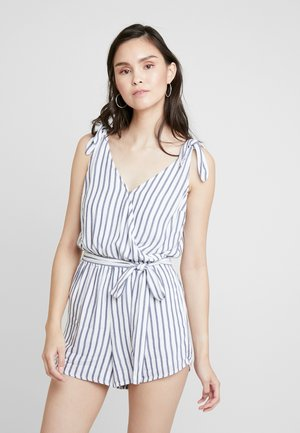 V NECK ROMPER - Tuta jumpsuit - light blue