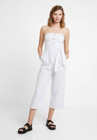 Abercrombie & Fitch - STAPLESS SMOCKED - Combinaison - white - 0