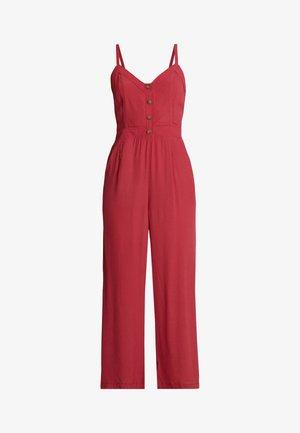 TIE BACK - Jumpsuit - red