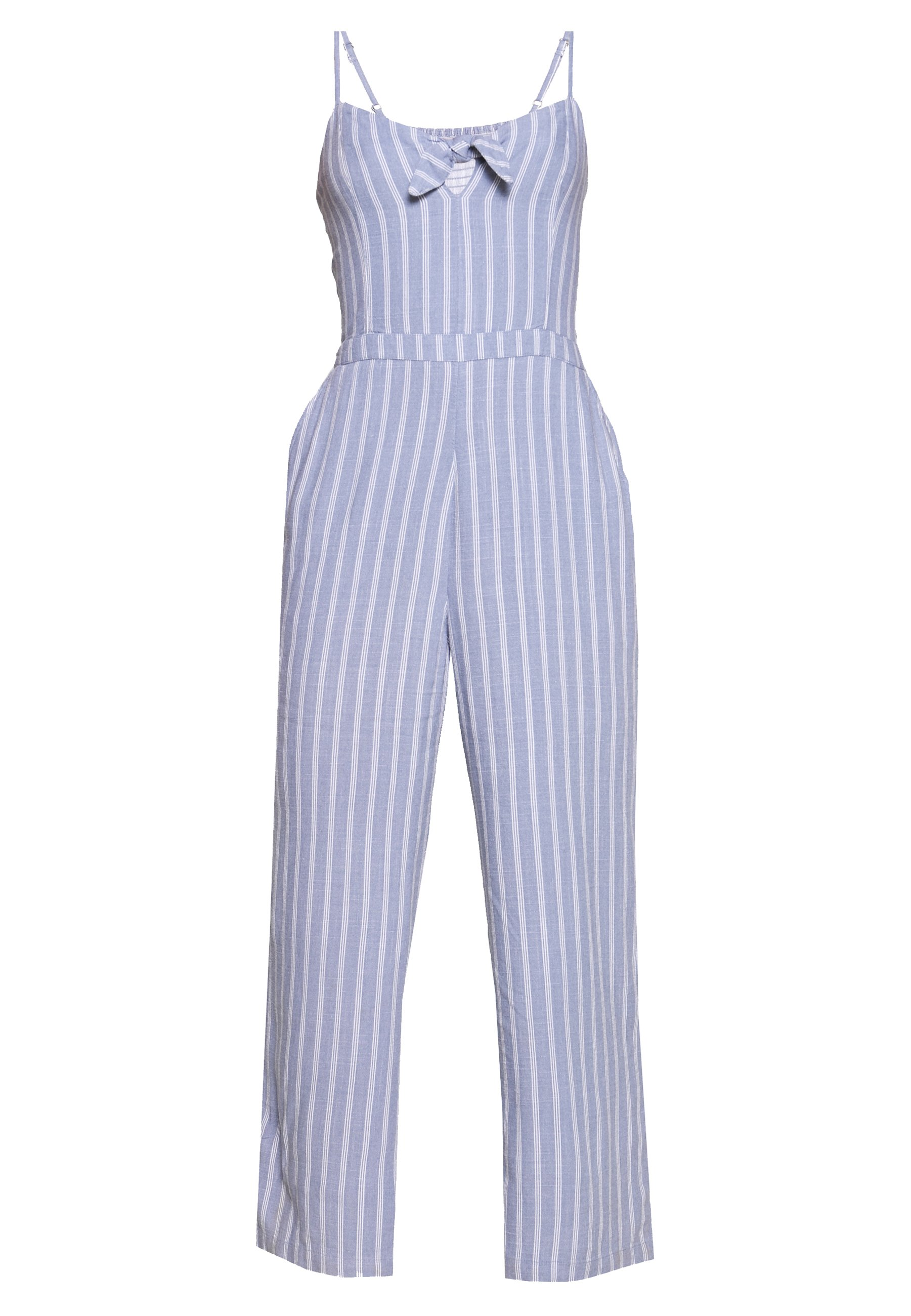 Abercrombie & Fitch Tie Front - Jumpsuit Blue/white