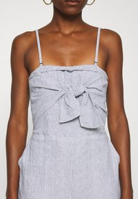 Abercrombie & Fitch - BOW FRONT - Jumpsuit - blue/white - 5