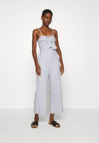 Abercrombie & Fitch - BOW FRONT - Jumpsuit - blue/white - 0