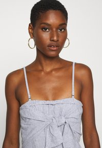 Abercrombie & Fitch - BOW FRONT - Jumpsuit - blue/white - 3