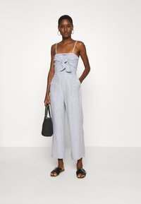 Abercrombie & Fitch - BOW FRONT - Jumpsuit - blue/white - 1