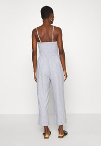 Abercrombie & Fitch - BOW FRONT - Jumpsuit - blue/white - 2