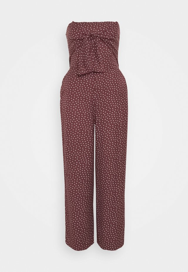 BOW FRONT - Jumpsuit - dark brown