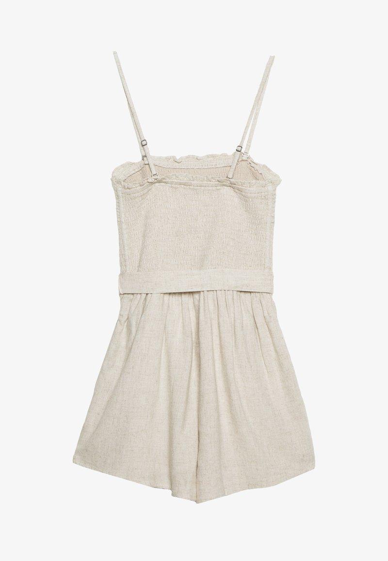 Abercrombie & Fitch - SAFARI ROMPER  - Tuta jumpsuit - beige