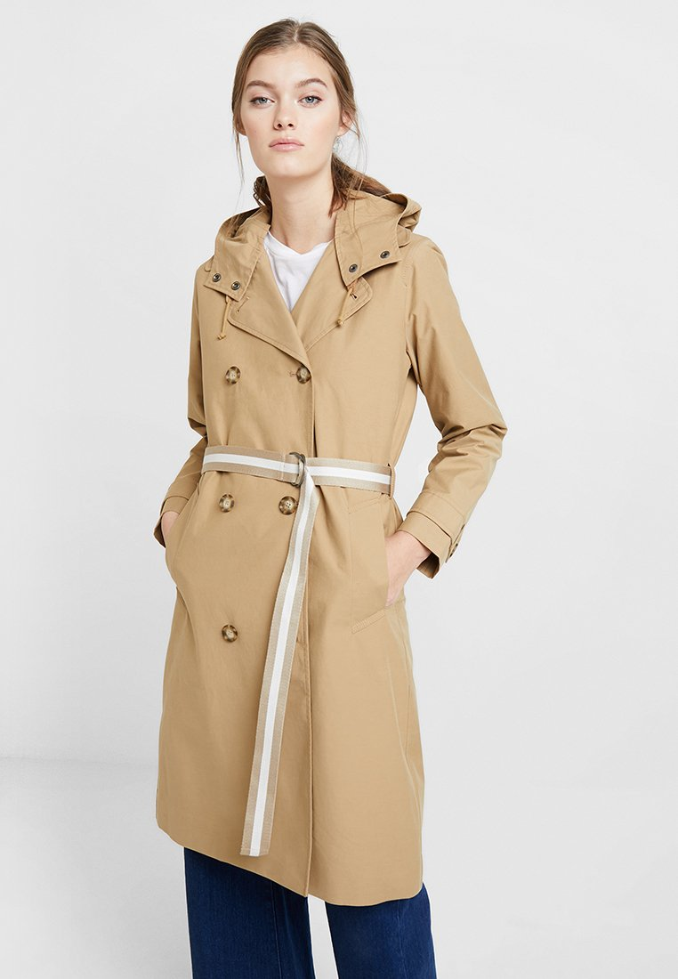 Abercrombie & Fitch - HOODED - Trenchcoat - kelp
