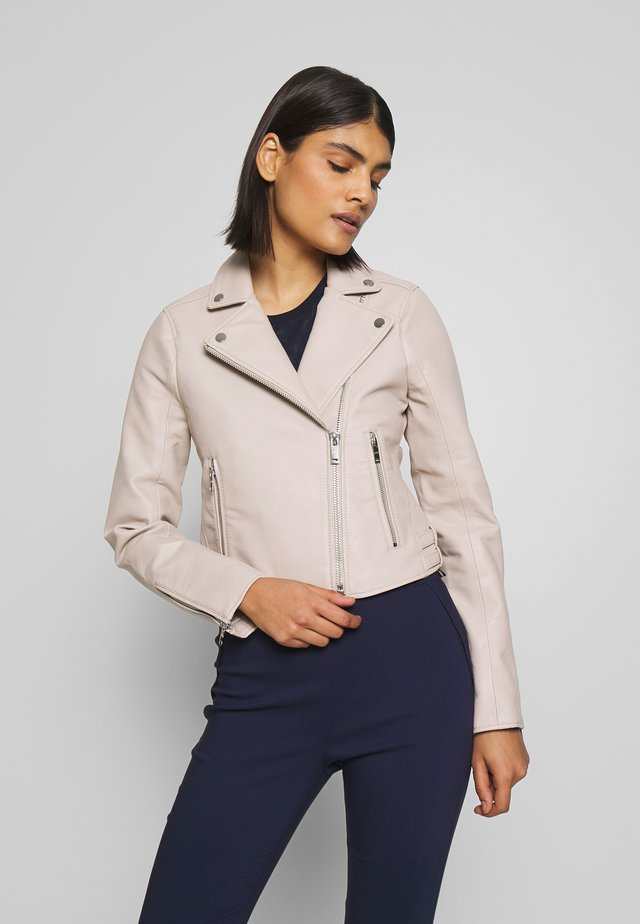 BIKER - Faux leather jacket - cream