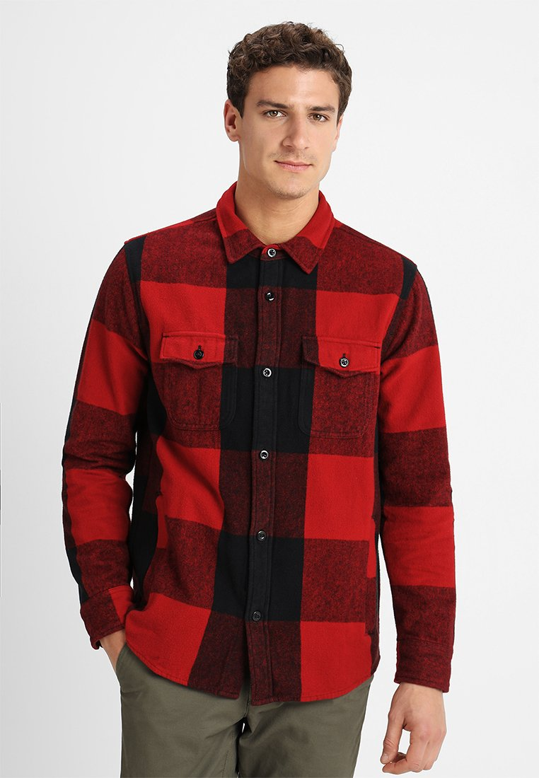 Abercrombie & Fitch - HEAVY - Shirt - red/black