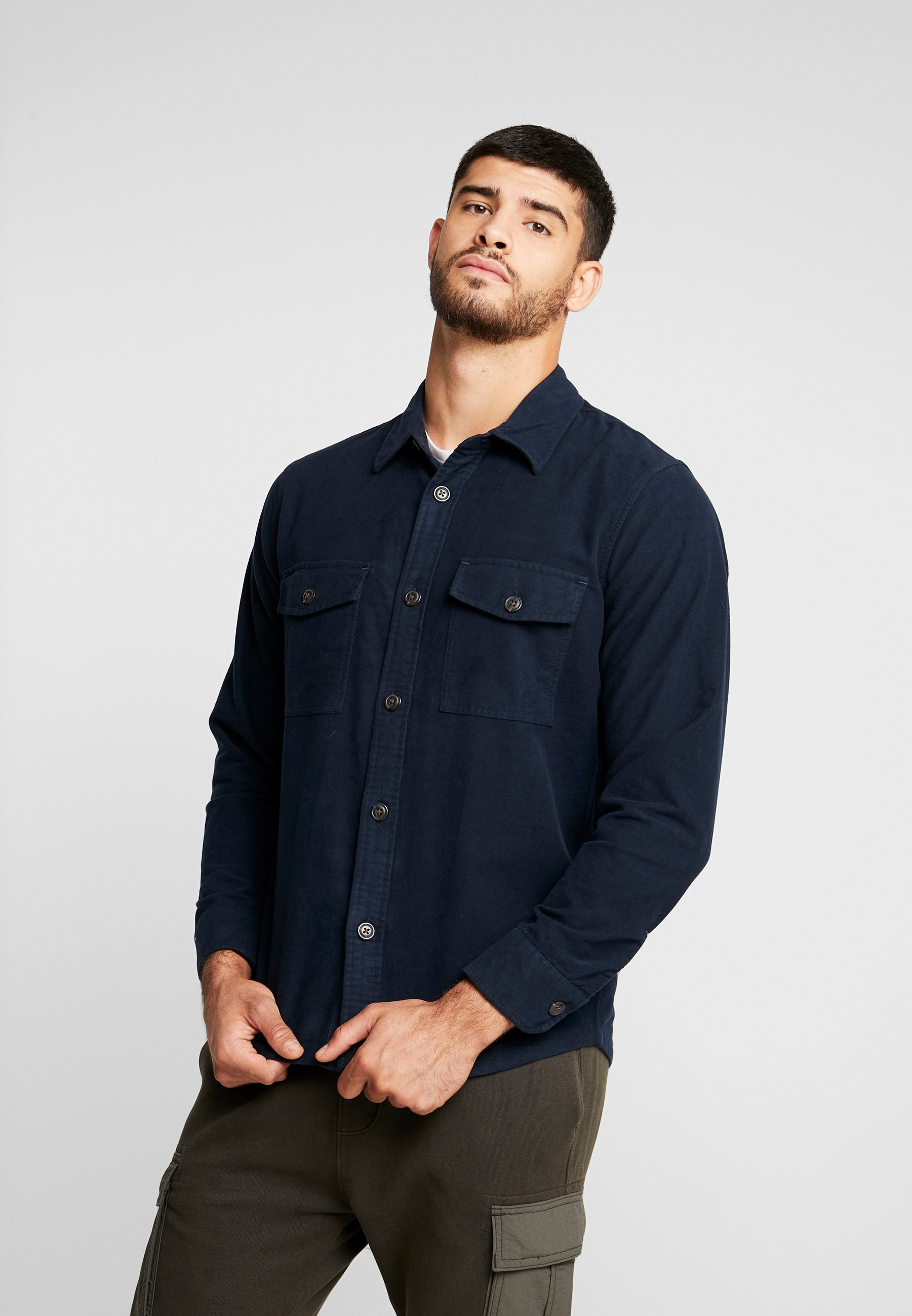 Abercrombie & Fitch SOLID SHIRT - Koszula - dark blue