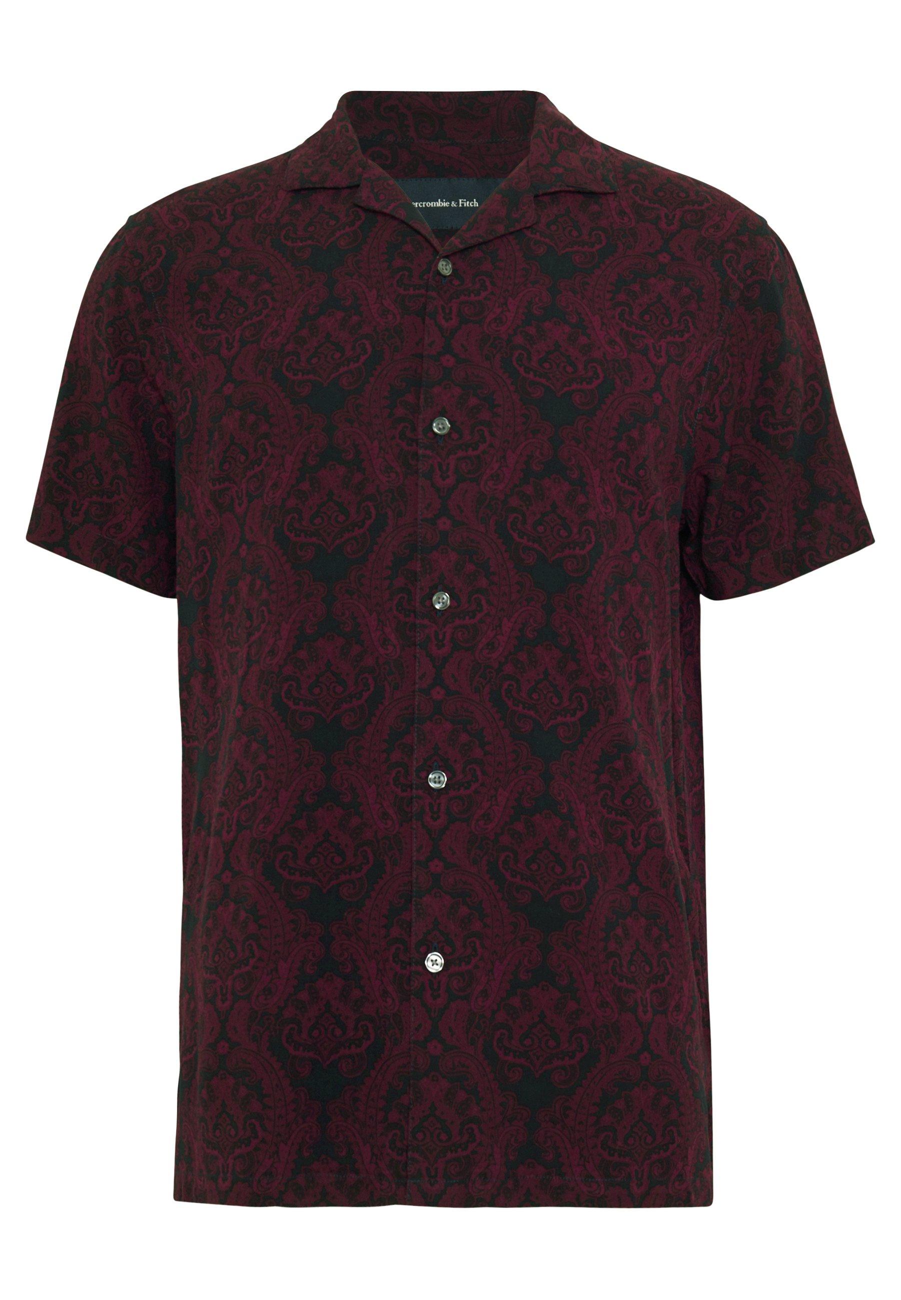 Abercrombie & Fitch Short Sleeve Resort - Skjorta Red