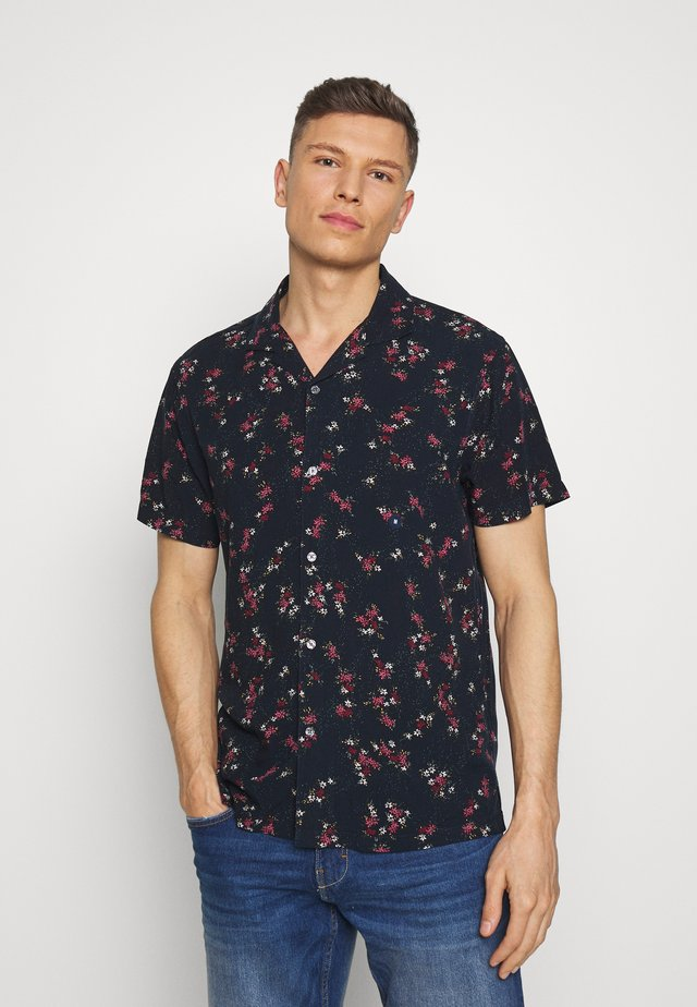 SHORT SLEEVE RESORT - Shirt - navy
