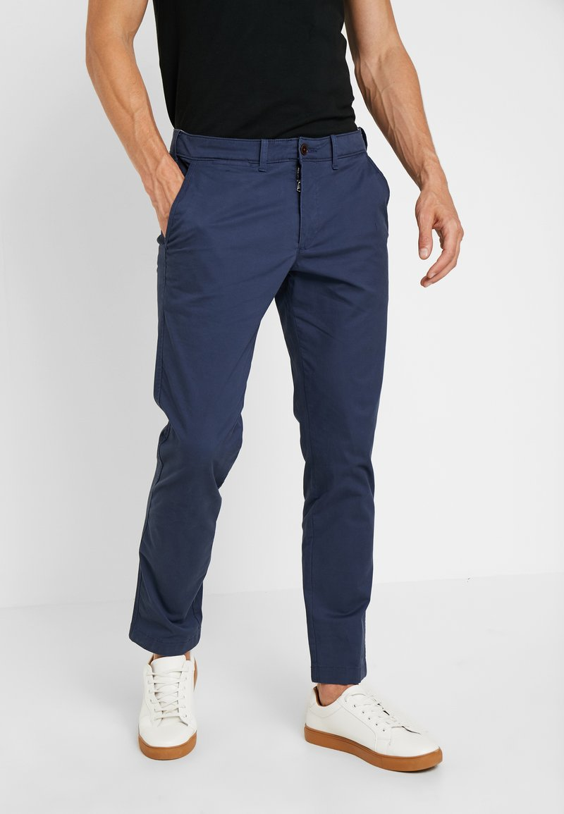 Abercrombie & Fitch - SKINNY - Chinos - navy