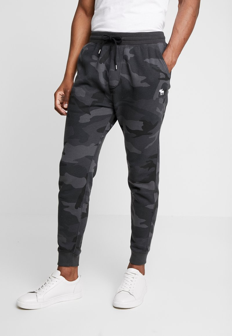 Abercrombie & Fitch - ICON JOGGER  - Tracksuit bottoms - black