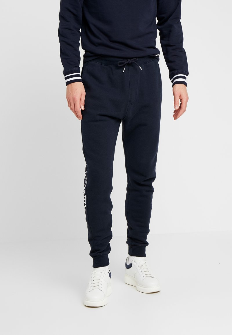 Abercrombie & Fitch - ICON JOGGER - Tracksuit bottoms - navy/sky captain