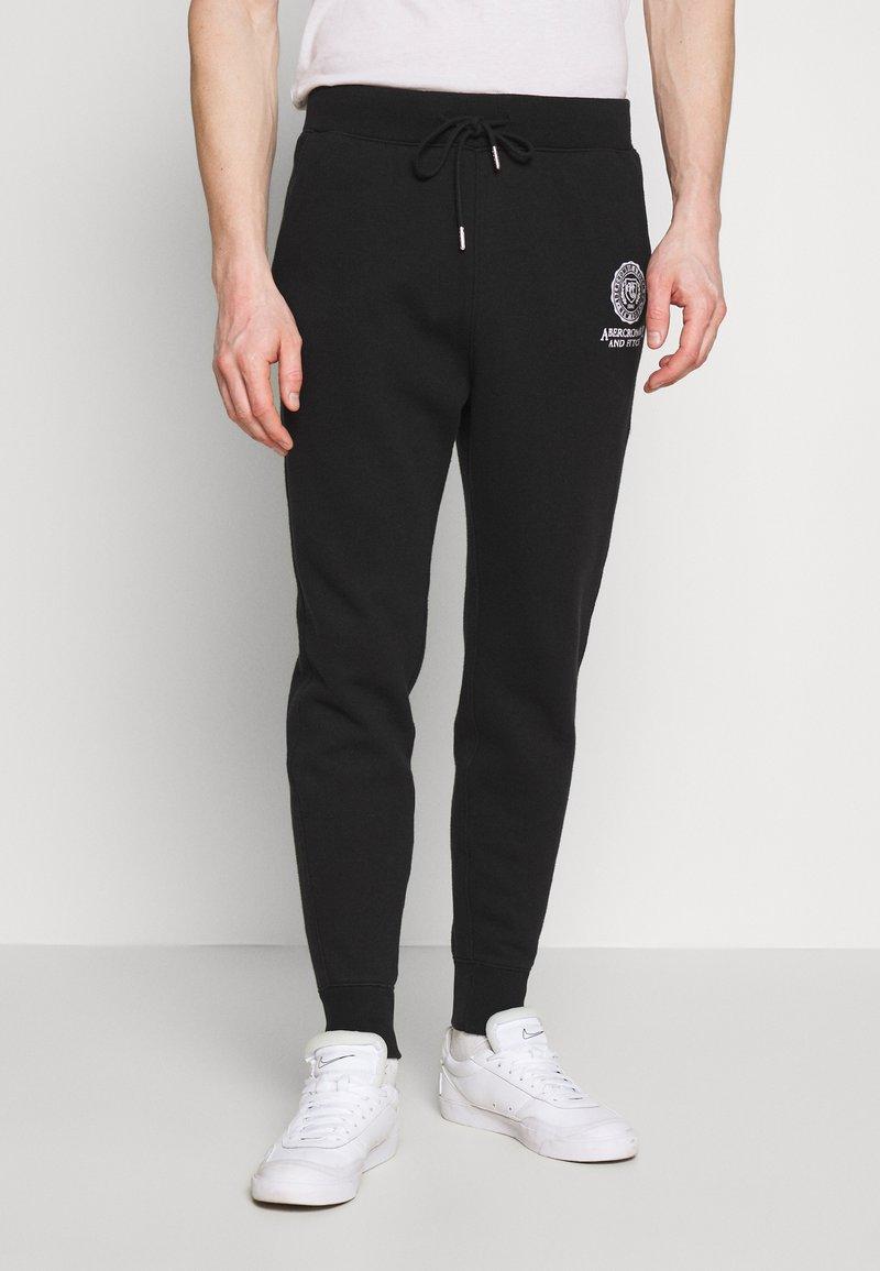 Abercrombie & Fitch - CREST TECH LOGO - Tracksuit bottoms - black
