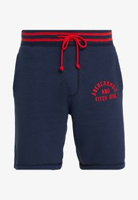 Abercrombie & Fitch - TIPPED APPLIQUE LOGO  - Tracksuit bottoms - navy - 3
