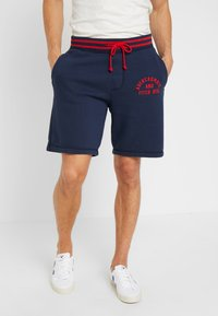 Abercrombie & Fitch - TIPPED APPLIQUE LOGO  - Tracksuit bottoms - navy - 0