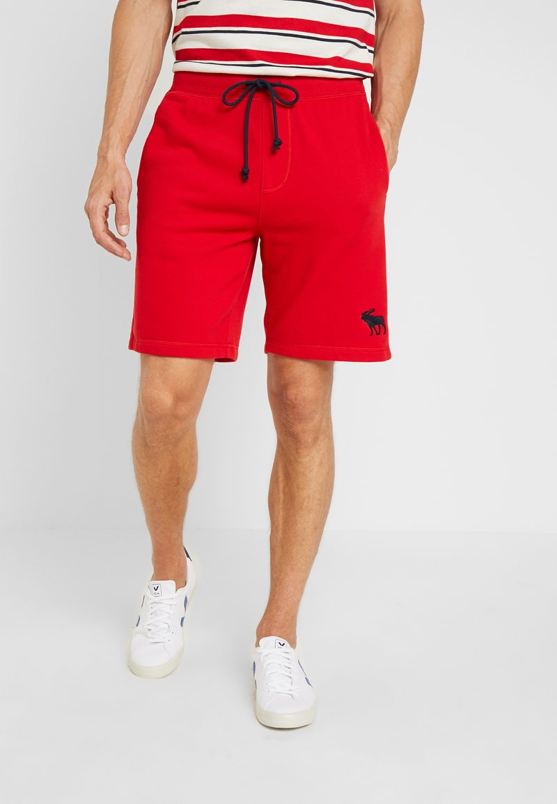 Abercrombie & Fitch - EXPLODED ICON LOGO - Tracksuit bottoms - red