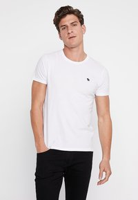 Abercrombie & Fitch - 3 PACK - Basic T-shirt - white/grey/black - 1