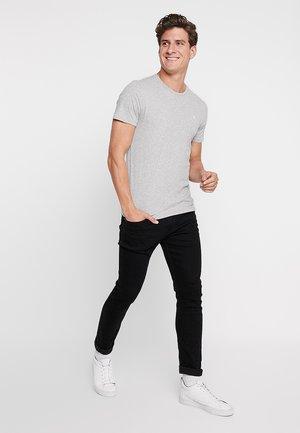 3 PACK - T-shirt - bas - white/grey/black