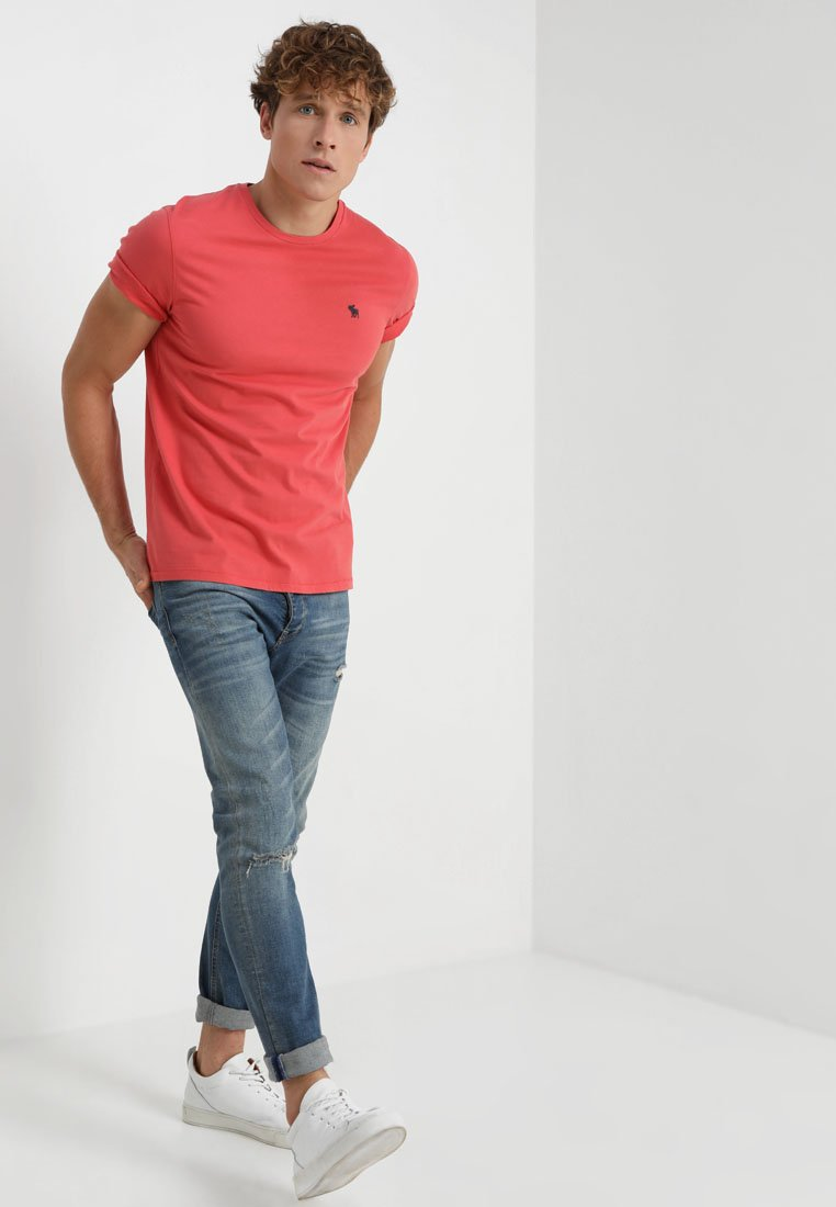 Abercrombie & Fitch - 3 PACK - T-shirt basic - red