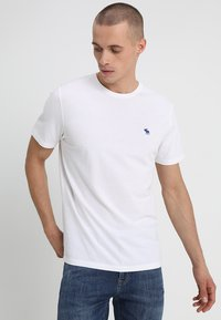 Abercrombie & Fitch - 3 PACK - T-shirt basic - blue/white/grey - 1