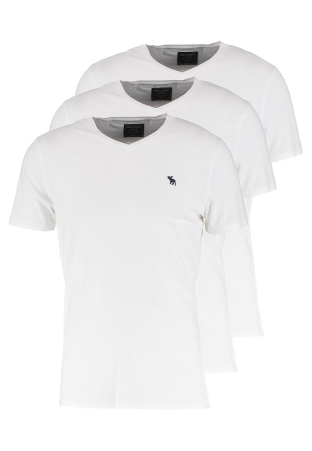 VNECK 3 PACK - T-Shirt basic - white